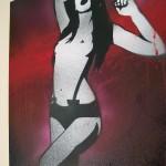 Mr Pilgrim graffiti artist, buy art online, buy graffiti art on canvas, stencil art for sale, spray paintings for sale.