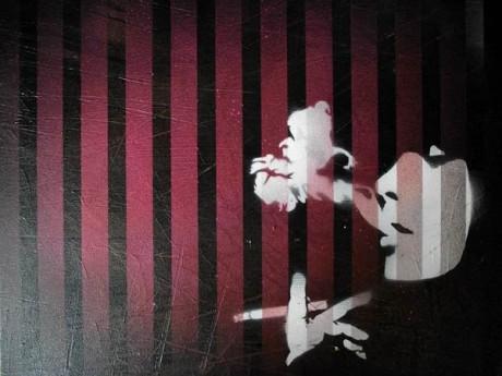 Mr Pilgrim Buy Art Online - Smoking Through Blinds | urban art, graffiti art, stencil art, original art for sale