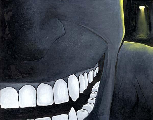Mr Pilgrim Canvas Art Paintings in Oil - Dark Face 01