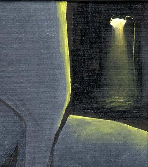 Mr Pilgrim Canvas Art Paintings in Oil - Dark Face 03