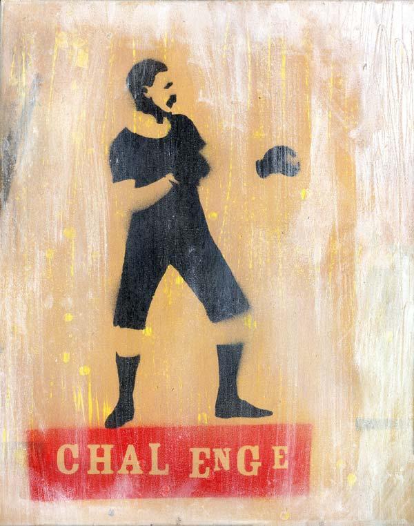 Mr Pilgrim Graffiti Art for Sale - Boxer | boxing art, vintage art, old style, stencil art