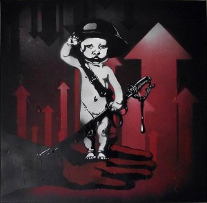 Mr Pilgrim Graffiti Artist - This is war boy | original art for sale, street art on canvas, urban art, buy art online