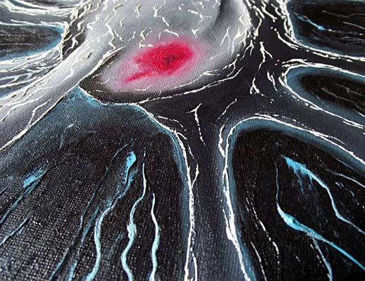Mr Pilgrim Oil Painting for Sale - Black Heart 02