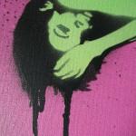 Graffiti Art Buy Online, graffiti girl, pop art pink, urban art for sale, urban artist, graffiti artist.