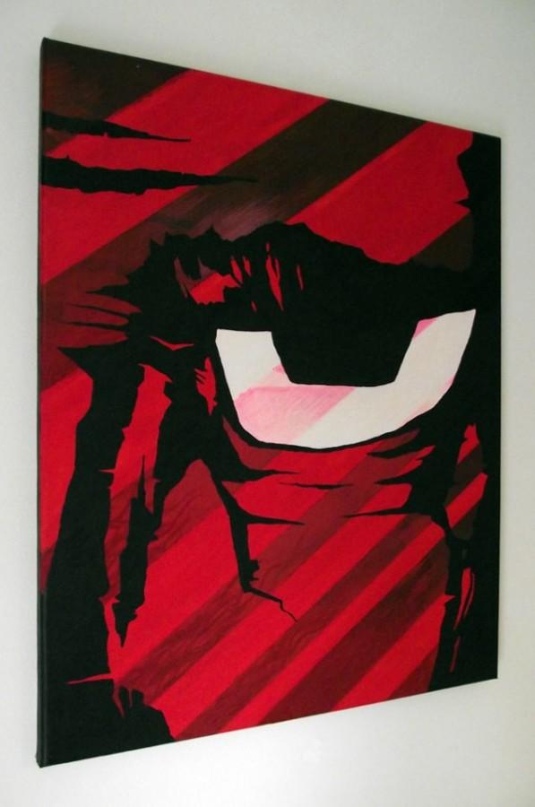 Red Eye 4 - Canvas Art Paintings Mr Pilgrim