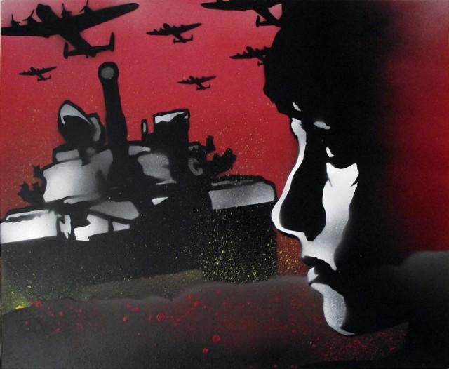 War Girl 1 - Mr Pilgrim Graffiti Street Art