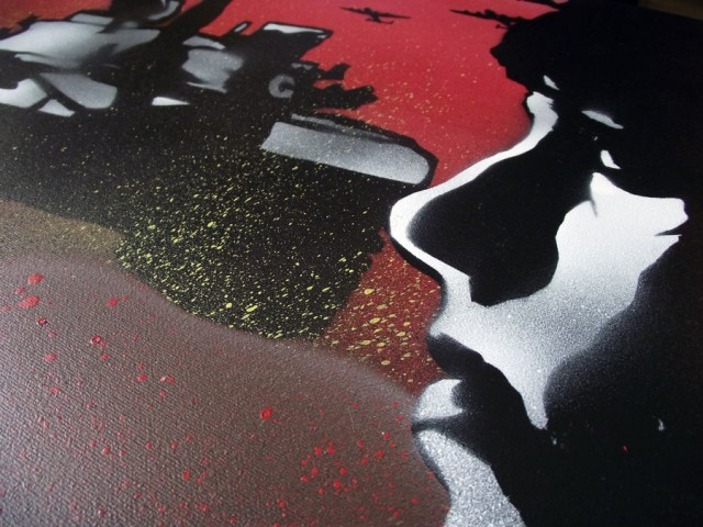 War Girl 2 - Mr Pilgrim Graffiti Street Art