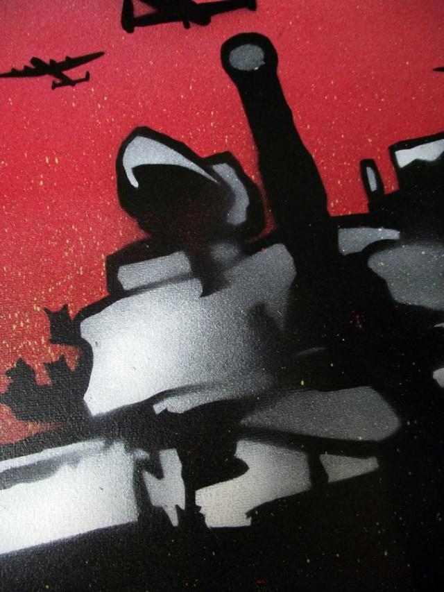 War Girl 3 - Mr Pilgrim Graffiti Street Art