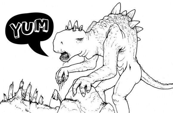 mr pilgrim, zombie dinosaur, graffiti artist, urban art, doodle.
