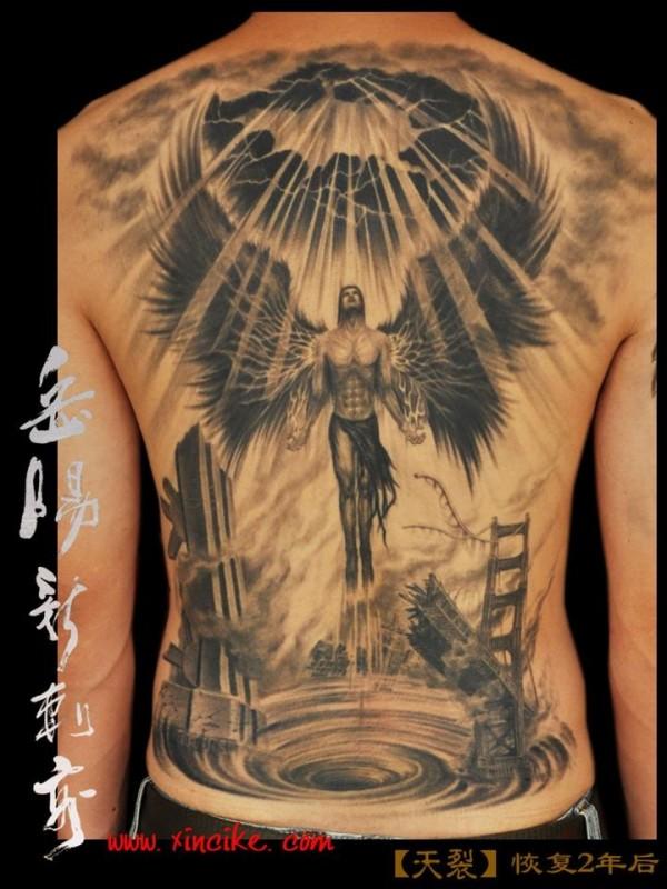 Image Result For Angel And Devil Neck Tattooa