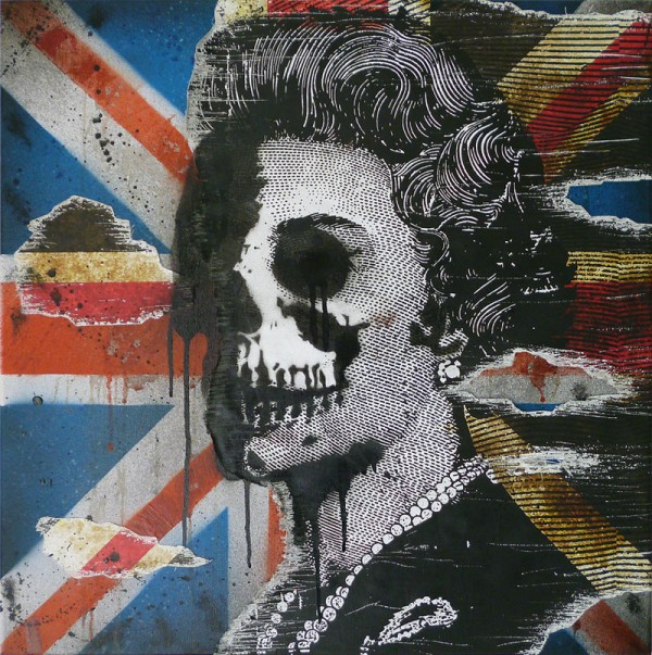 urban art for sale, mr pilgrim, god save the queen.