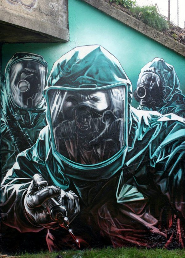 Collection of amazing street art, graffiti art & urban art on Mr Pilgrim online