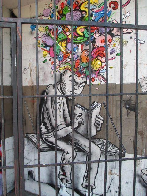 ... cool street art, inventive urban art  mr pilgrim ...