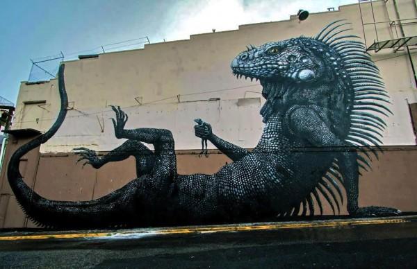 roa, street artist, urban art, street art, urban artist, graffiti art, murals.