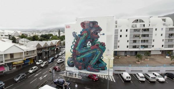 aryz, street artists, urban artists, wall murals, graffiti art, great street art, great urban art online.