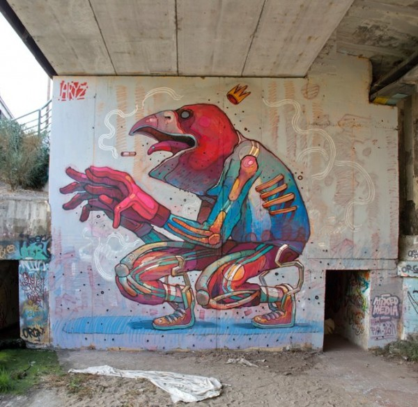 aryz, street artists, urban artists, wall murals, graffiti art, great street art, great urban art online.