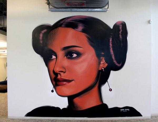 star wars, Natalie portman, great urban artists, street artists, graffiti artists, el mac, street art online, mr pilgrim, urban art