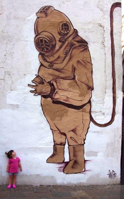 unique murals, unusual street art, wall mural, street artists, graffiti artists, wall murals, mr pilgrim.