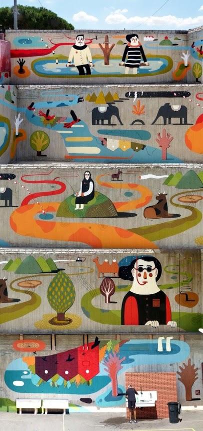 greatest street art, urban art, graffiti art, street artists, urban artists, murals, wall mural, agostino iacurci