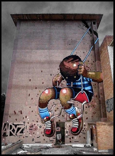 greatest street art, urban art, graffiti art, street artists, urban artists, murals, wall mural, aryz