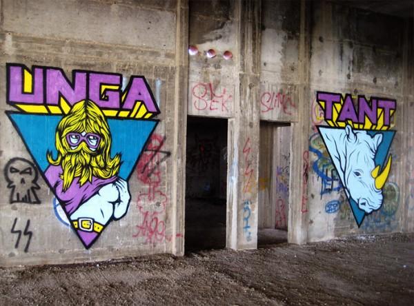 unga, tant, street art, urban art, graffiti art, urban artists, street artists, graffiti artists, wall mural, murals, unique murals.