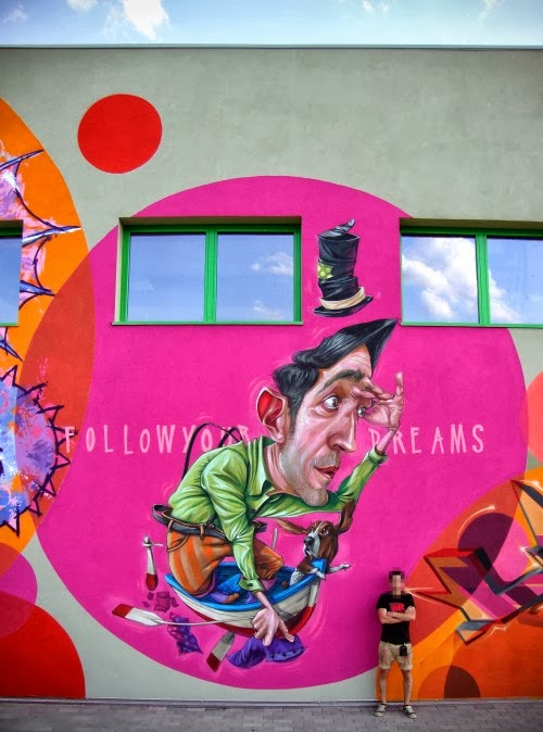Macs, street art, urban art, graffiti art, urban artists, wall mural.