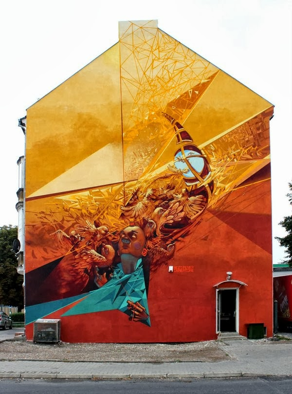 Przemek Blejzyk, street art, urban art, graffiti art, urban artists, wall mural.