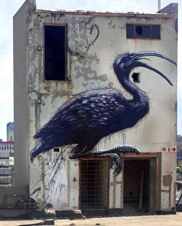 roa, greatest street art, urban art, graffiti art, street artists, urban artists, murals, wall mural
