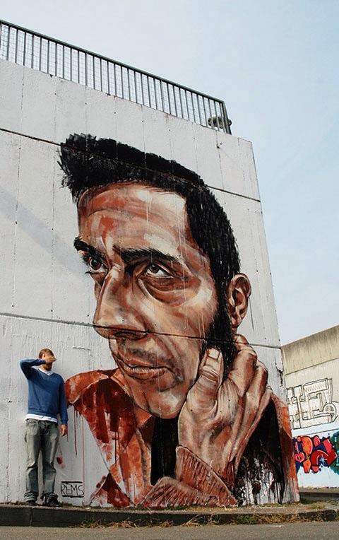 Rems 182, street art, urban art, graffiti art, urban artists, wall mural.