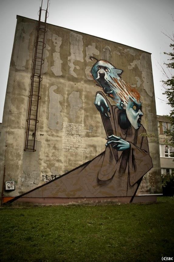 sainer, bezt, etam cru, street art, urban art, graffiti art, urban artists, wall mural.