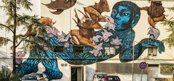 ericailcane, bastardilla, street art, urban art, graffiti art, urban artists, wall mural.
