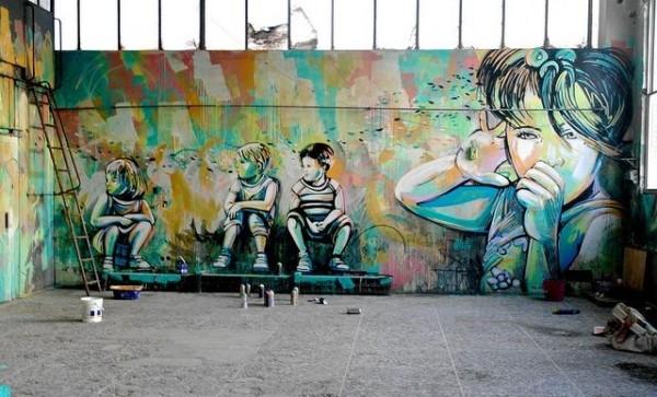 urban art, graffiti art, street artists, urban artists, wall murals, alice pasquini.