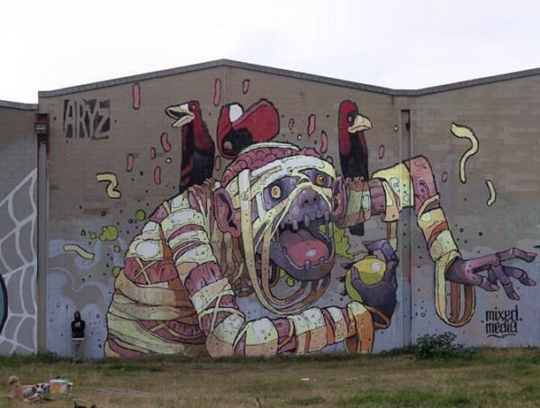 world street artists, urban art, graffiti art, street art, wall murals, mural, urban artists, graffiti artists, aryz.