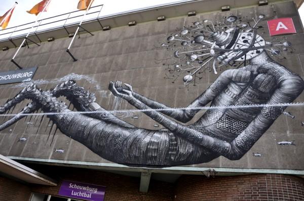 phlegm, street artist, wall mural, urban art, murals, street art, graffiti art.