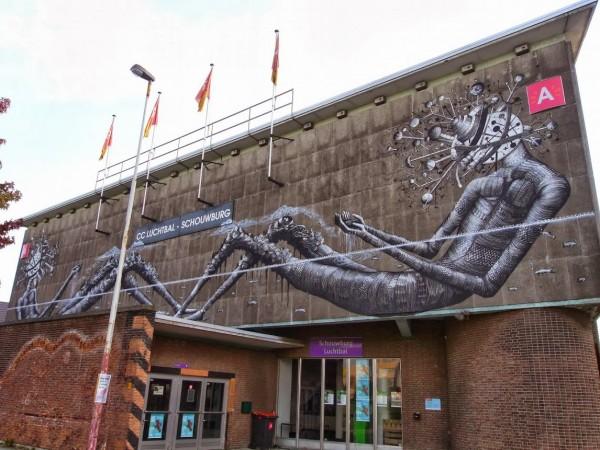 urban art, graffiti art, street artists, urban artists, wall murals, phlegm.