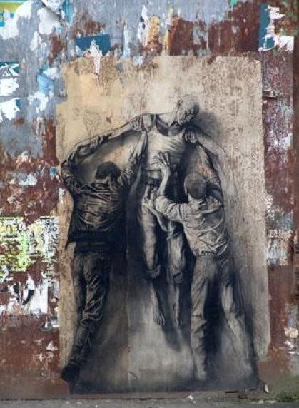 Ernest Pignon, street art online, urban artists, graffiti artists, street artists, free walls, graffiti.