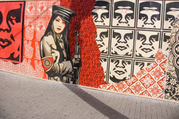 Obey, Shepard Fairey, street art world, urban art, graffiti art, wall mural, murals, urban mural, street artist, urban artists.