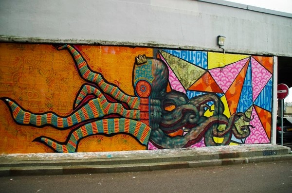 Alexandre Delaunay & Père Dedu, graffiti street art, urban art online, graffiti art, street artists, urban artists, graffiti artists, free walls