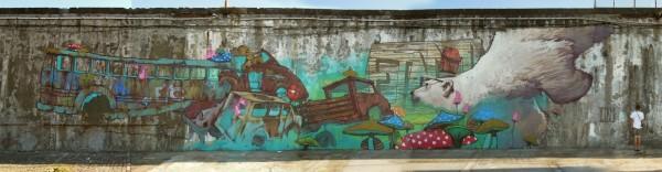 Azores, Portugal, Etam Cru, street art, urban artists, graffiti art, street artists, urban art.