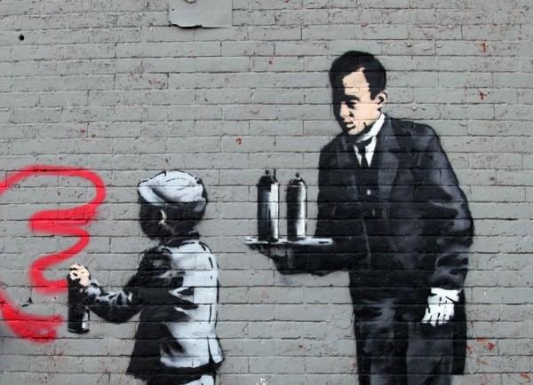 Banksy, urban art online, street artists, street art, wall murals.