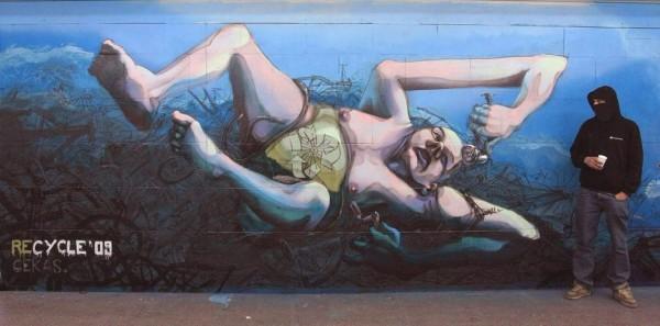 Cekas, graffiti street art, urban art online, graffiti art, street artists, urban artists, graffiti artists, free walls