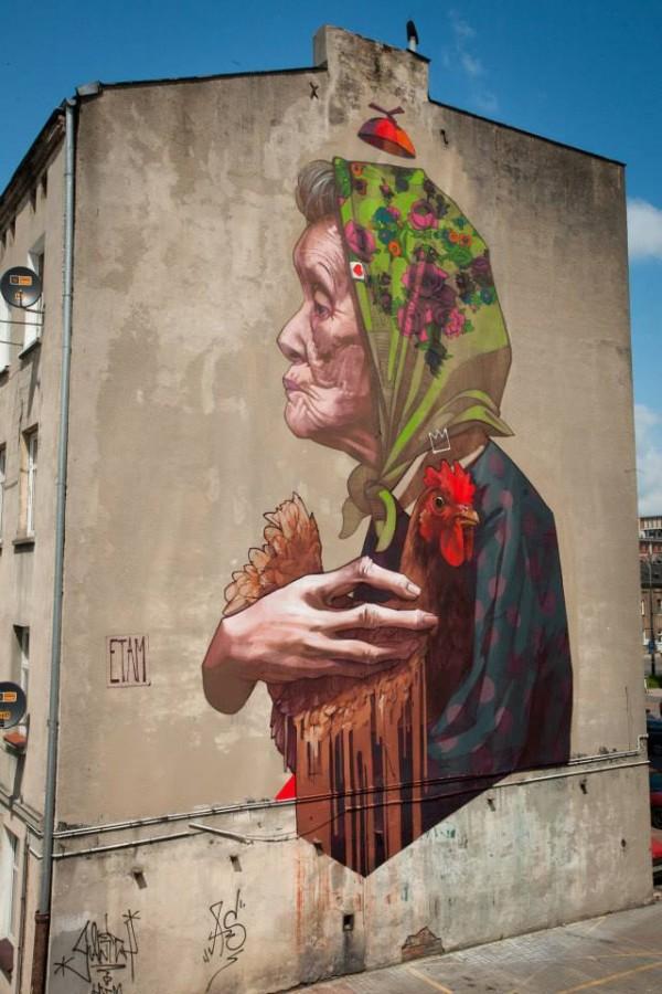 lodz, poland, murals, wall mural, street art, urban artists, graffiti art, street artists, urban art.