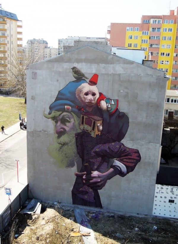 Unbelievable Street Art by Sainer & Bezt of Etam Cru!