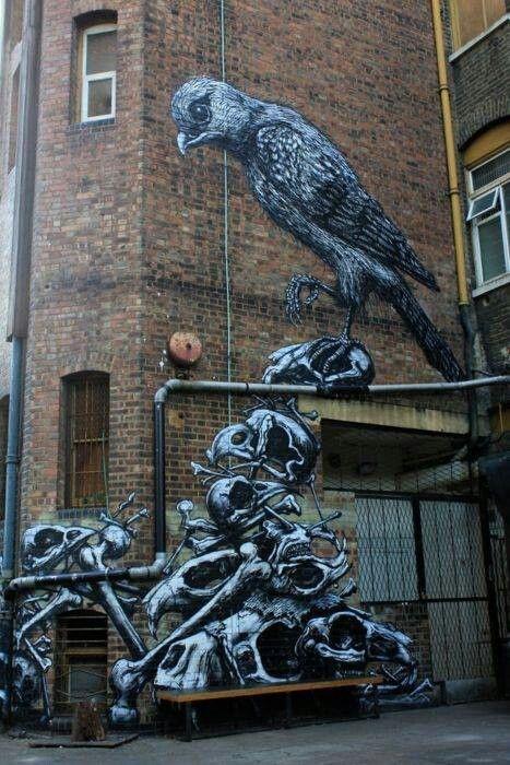 roa, urban art online, street artists, street art, wall murals.