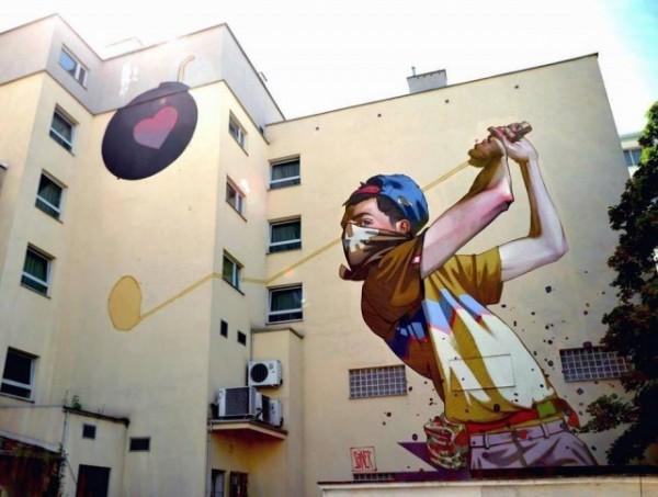 Sainer, street art, urban artists, graffiti art, street artists, urban art.
