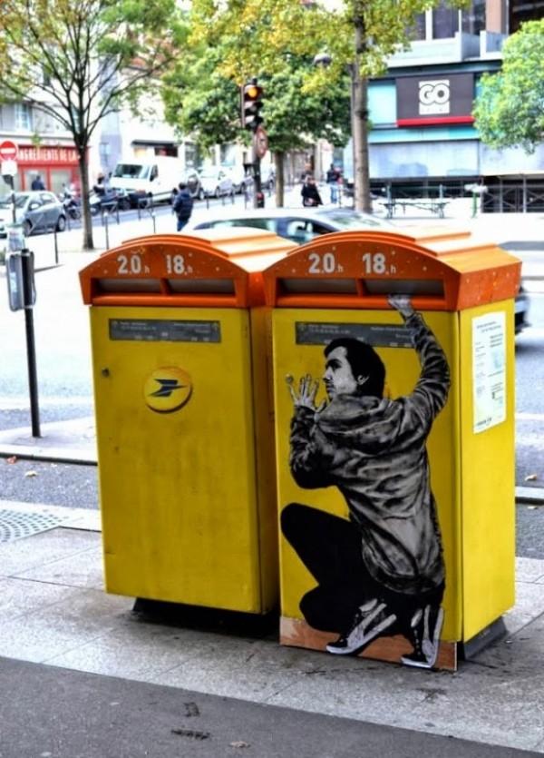 levalet, urban art online, street artists, street art, wall murals.