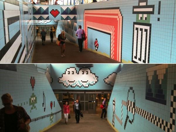 Stockholm metro, imaginative street art, graffiti art, street artists, urban murals, urban art, mr pilgrim art.