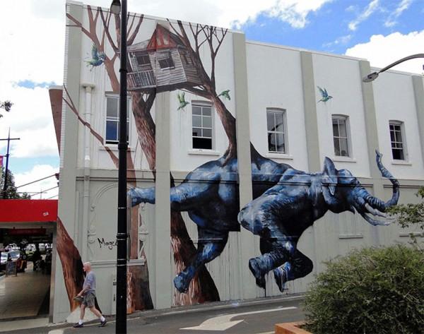 Fintan Magee, imaginative street art, graffiti art, street artists, urban murals, urban art, mr pilgrim art.