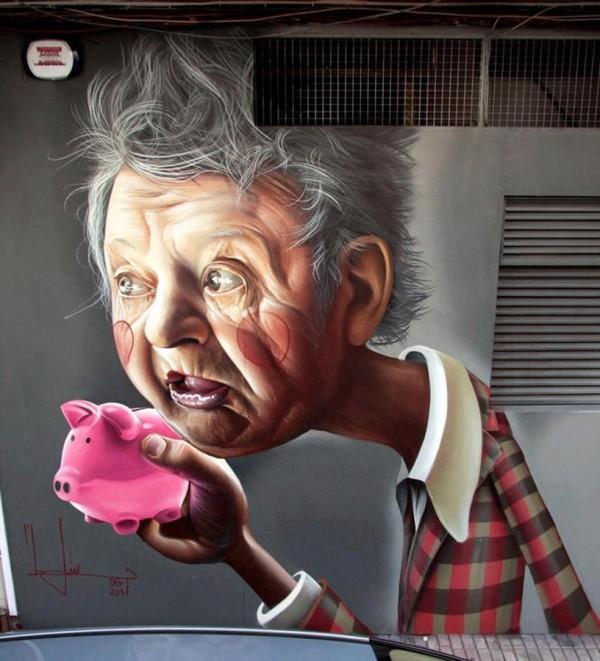Belin, imaginative street art, graffiti art, street artists, urban murals, urban art, mr pilgrim art.