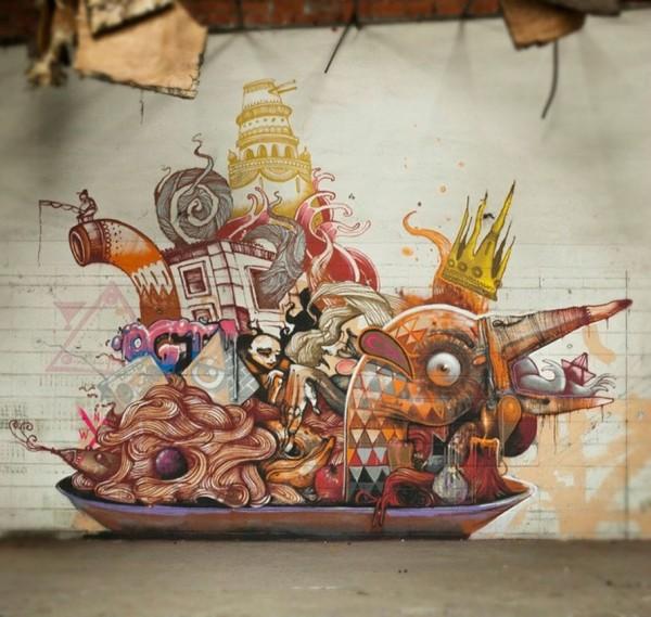 Christian Blanxer, imaginative street art, graffiti art, street artists, urban murals, urban art, mr pilgrim art.